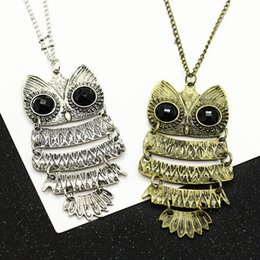 $enCountryForm.capitalKeyWord Australia - Retro Hot Sale Owl Pendants Necklaces For Women Men Gold Male Fashion Birthday Gifts