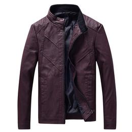 Washing Motorcycle Jacket Australia - good quality 2019 Brand New Men's Jackets Leisure Washed Motorcycle Leather Pu Leather Collar Overcoat For Male Jacket Coat