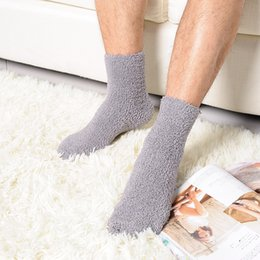 Pair Bedding Australia - 1 pair Creative Extremely Cozy Cashmere Velvet Socks Men Women Winter Warm Sleep Bed Floor Home calcetines invierno hombre Meias