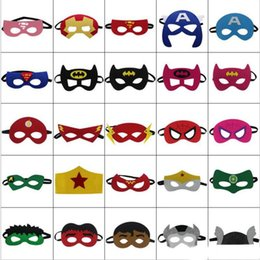 Discount masquerade masks Halloween Cosplay Masks 2 Layer Cartoon Felt Mask Costume Party Masquerade Eye Mask Children Kids Halloween Christmas Gift Masks