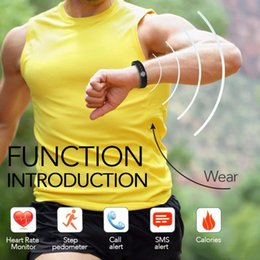 andriod smart watches Australia - Smart Sports Bracelet Fitness Activity Tracker Wristband Heart Rate Monitor Bluetooth 4.0 Watch Bracelet For IOS And Andriod