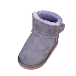 Discount high ankle boys shoes - Kids Girls Boots 2019 Winter Warm Plush Shoes Thicken Snow Boots For Girls Boys Solid Ankle Casual Children Cotton Shoes