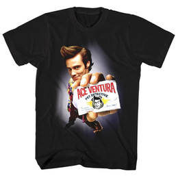 Wholesale middle sleeve tops online – Ace Ventura Pet Detective Poster Men s T Shirt Jim Carrey Calling Card Top for youth middle age old age tee shirt