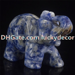 "$enCountryForm.capitalKeyWord Australia - Wholesale 1.5"" 2""Hand Carved Natural Blue Aventurine Sodalite Quartz Crystal Fetish Elephant Healing Guardian Statue Figurine Crafts 10pcs"