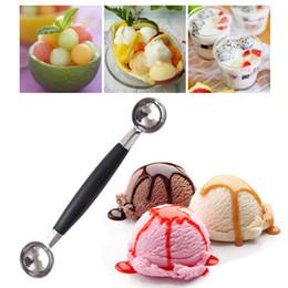$enCountryForm.capitalKeyWord Australia - Aihogard Stalinless Steel Dual Double-end Watermelon Ice Cream Spoon Dessert Dig Ball Spoon Fruit Scoop Kitchen Cook Tool