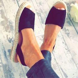 $enCountryForm.capitalKeyWord Australia - Suede Womens Sandals Casual Black White Flat Sandals Summer Womens Shoe Beach Simple Size 35-43 Ladies Sandale Femme 2019 nm1