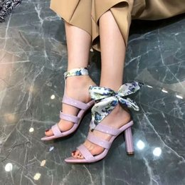 79fe77173287b Spring Summer New Style Woman Patent Leather 8cm High Heel Sandals Femal  Metal Plating Flower Shape Sandals Brand Style Round Heel Sandals
