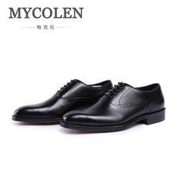 Designs Suits Laces Australia - MYCOLEN New Design Luxury Genuine Leather Lace Up Modern Men Brogue Shoes Party Wedding Suit Formal Footwear Male Dress Shoes