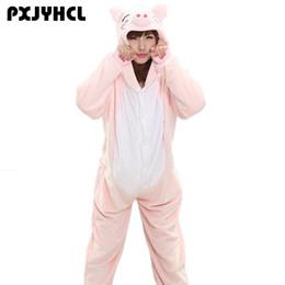 Adult Anime Games Australia - Animals Unicorn Cosplay Costume Adult Girl Unicorn Onesie Flannel Pig Women Anime Jumpsuit Disguise Onepiece Suit