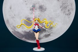 sailor moon action NZ - Super Sailor Moon (Pre-painted) 1 4 Figure Anime Action Figure Manga Cartoon GK Figure Garage Kits