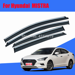 $enCountryForm.capitalKeyWord Australia - Car Awnings Shelters Window Visors Sun Rain Shield Sticker Cover Plating Chrome Trim Auto Accessories For Hyundai Mistra