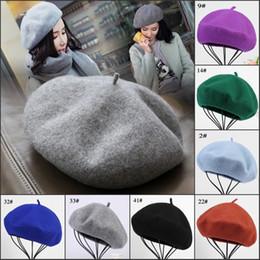 Adult Beanies Hats Australia - Classic Designer Womens Woolen Beret Winter Warm Beanie Hats Elegant Formal Dress Hat For Adults Ladies Fashion Woman Fedora Cap Gorra Gorro