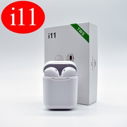 Iphone phone brand online shopping - I11 TWS Mini Bluetooth Earphone Wireless Bass Earbud Bluetooth Version Stereo With Charging Box Mic for All Apple Android phone
