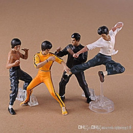 Wholesale Chinese Figures Australia - low price Discout Chinese Kungfu Star Bruce Lee Figures Toys Bruce Lee Action Figures Collection Toys 4pcs Set GIFT T609