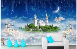 wood castle 2019 - WDBH 3d wallpaper custom photo Sky castle mythology TV background wall living room home decor 3d wall murals wallpaper f