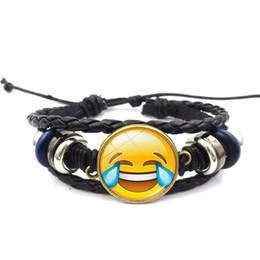 $enCountryForm.capitalKeyWord Australia - Cross-border hot sale creative exquisite emoji expression time gemstone bracelet diy hand-woven multi-layer beaded bracelet wholesale