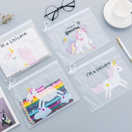 japan stationery wholesalers NZ - 500Pcs Hot Cartoon Makeup Bags Cosmetic Cases Clear Travel Wash Bags Storage Bag PVC Stationery Office Docoment Folder School Supplies