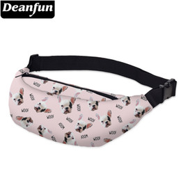 printed waist bag Australia - Deanfun Waist bags 3D Printed Bulldog Adjustable Belt Women for Outdoors Girls Travelling YB17