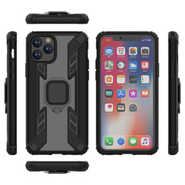 iphone heavy duty metal case Australia - Phone Case Heavy Duty Shockproof Dual Layer Armor Cases Ring Holder Cover For iPhone 11 Pro Max XS XR Samsung Note 10 Plus