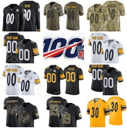 Discount pittsburgh custom - Custom Man Youth Woman Pittsburgh Football Steeler Joshua Dobbs Jersey Mason Rudolph Terrell Edmunds Jaylen Samuels Sean