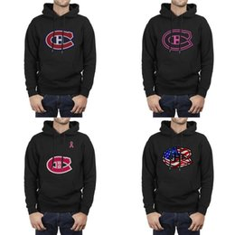 montreal sweatshirt Australia - Montreal Canadiens uas flag black Mens Hoodie Fleece Sweatshirt Warm pink breast cancer Mesh design Leopard series RED Distressed red