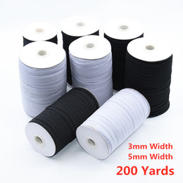 three dimensional pictures Australia - Elastic Bands 200 Yards 3 5mm White Black Nylon Elastic Band Garment Trousers Sewing Accessories DIY Crafts