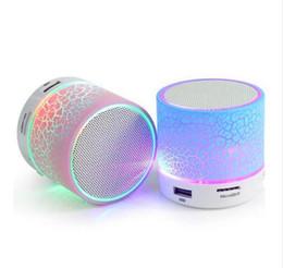Subwoofer Stereo Input Australia - Bluetooth Speaker Mini Wireless Loudspeaker Crack LED TF USB Subwoofer bluetooth Speakers mp3 stereo audio music player