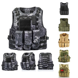paintball clothes NZ - Men Vest CS Paintball Jungle Equipment Assault Cambat Tactical Camo Clothes Army SWAT Soldier Vest