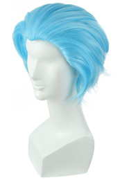 Light bLue cospLay wig short online shopping - The Seven Deadly Sins Greed Ban Cosplay Wig Light Blue Short Straight Anime Hair
