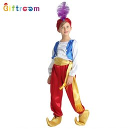 aladdin costumes NZ - vwJvX Carnival match clothing Arabian boy Aladdin magic lamp drama stage performance cosplay Carnival match costume clothing Arabian boy Ala