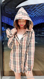 Wholesale hooded plaid shirt women for sale – plus size 2018 Newest luxurious brand design BBR plaid hooded Shirt Women Men Casual Blouse Sweatshirts Streetwear Outdoor Hoodies Jackets