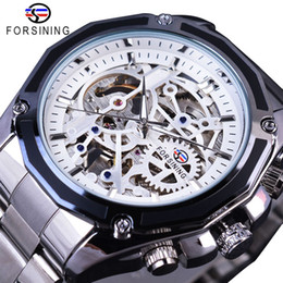 $enCountryForm.capitalKeyWord Australia - Forsining Steampunk Style Mens Skeleton Watches Black Automatic Mens Watch Top Brand Luxury Luminous Hands Horloges Mannen SLZe66