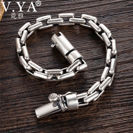 toggle chain bracelet NZ - V.ya 6 8mm Men's Bracelet 925 Sterling Silver Bracelets Male Men Toggle-clasps Silver Jewelry Birthday Wedding Gift J190707