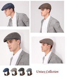 Fallen Hats Australia - Stand Focus Unisex Women Men Newsboy Ivy Golf Driving Hat Cap Herringbone Fashion Wool Blend Tweed Fall Winter