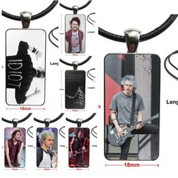 michael glasses UK - For Girls Wholesale Michael Clifford Idiot Quote Glass Cabochon Pendant Necklace Rectangle Fashion Necklace