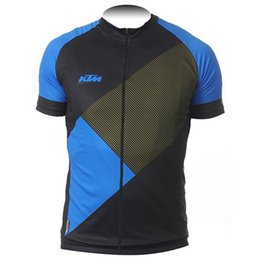 polyester short sleeve shirts Australia - KTM Cycling Jersey Summer Breathable Mtb Bike Clothing racing Bicycle shirts Short Sleeve Tops Maillot Ciclismo Sportswear Free postage