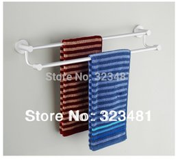 bar towels free shipping Australia - Bathroom Accessories Solid Resistant-stain Double Towel Bar 60cm Space Aluminium Free Shipping