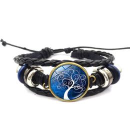 $enCountryForm.capitalKeyWord Australia - Cross-border new life tree time gemstone bracelet fashion hot multi-layer weaving unisex leather rope jewelry wholesale