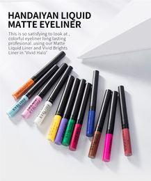 $enCountryForm.capitalKeyWord Australia - 12pcs Colorful matte eyeliner liquid eyeliner waterproof and sweat proof eyeliner pen 12 Colors free ship 12