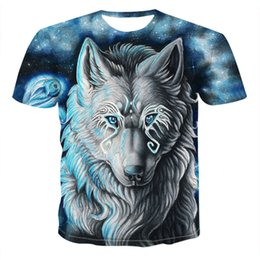 $enCountryForm.capitalKeyWord Australia - 2019 Newest Wolf 3D Print Animal Cool Funny T-Shirt Men Short Sleeve Summer Tops Tee Shirt T Shirt Male Fashion tshirt Male 6XL