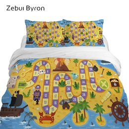 kids cartoon bedding set queen size NZ - 3D children's bedding sets luxury,bed set Queen  King Twin Full size,Cartoon duvet cover set for baby kids boys,game map
