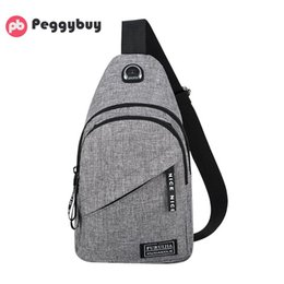 $enCountryForm.capitalKeyWord NZ - Fashion casual men chest pack single shoulder bags USB charging chest bag crossbody bag male anti theft single strap waist Pack