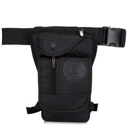Military Multi Pack Australia - Men Waterproof Nylon Drop Leg Bag Fanny Waist Pack Thigh Belt Hip Bum Military Tactical Motorcycle Riding Multi-purpose Pouch #31554