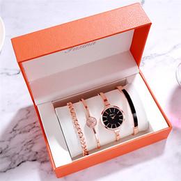 $enCountryForm.capitalKeyWord Australia - FAXINA New Watch Four-Piece Fashion Bracelet Bracelet Set Female Watch Personality Trend Ladies Watch