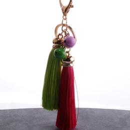 $enCountryForm.capitalKeyWord Australia - Korean fashion women bag pendant auto accessories Creative gold bell tassel bell key ring pendant hot sale HO26