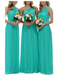 $enCountryForm.capitalKeyWord Australia - Turquoise Dress One Shoulder Royal Blue Red Purple Bridesmaids Dresses Chiffon Long A-line Vintage Maid Honor Gowns Vestido Para Madrinha