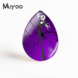 $enCountryForm.capitalKeyWord UK - 2019 New Jack Skellington Glass Cabochon Sally Tear Drop Cabochons The Nightmare Before Christmas Photo Jewelry For Women