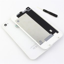4s Housing Australia - Back Glass Cover Housing For iPhone 4 4S Back Battery Cover Housing Door Rear Glass For iPhone 4 4s Spare Parts