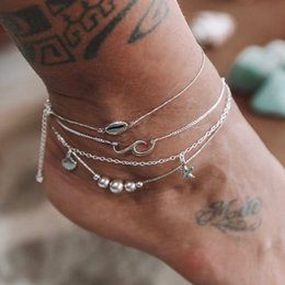 Anklet Silver Chains Australia - Cheap Barefoot For Wedding Bridal Jewelry Sterling Silver Anklet Chain Hottest Stretch Ring Beading Wedding Bridal Bridesmaid Jewelry Foot