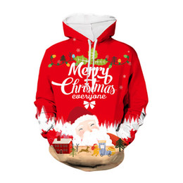 christmas pullover men Canada - Men and Womens Designer Hooded Coats Mens Christmas 3D Digital Printing Sweater Youth Fashion Trend Casual Pullover Sweater 2020 Top Quality